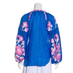 March 11 Tops - March 11 Flower Pixel Embroidered Blouse